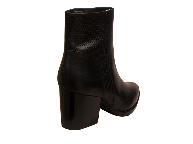 bottine boots talon haut myma cuir noir bottines et boots talons hauts bottes chaussures pour. Black Bedroom Furniture Sets. Home Design Ideas