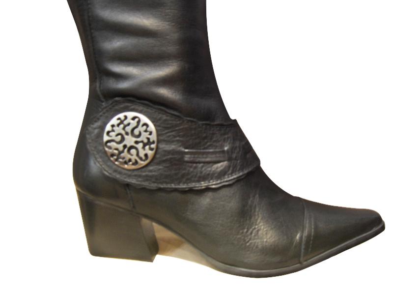 Bottes femmes cuir AYAME noires