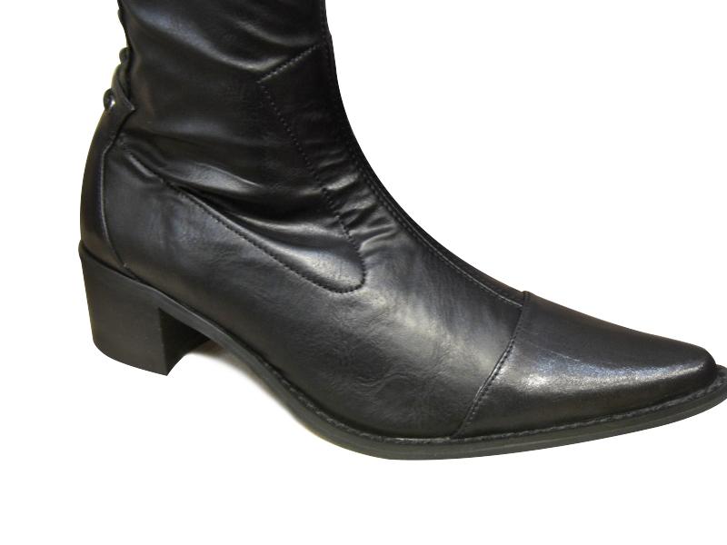 bottes cuissardes femme fugitive noires cuissardes bottes chaussures pour femmes femmes chaussures. Black Bedroom Furniture Sets. Home Design Ideas