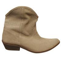 Boots femmes BILLTORNADE santiags beiges cuir