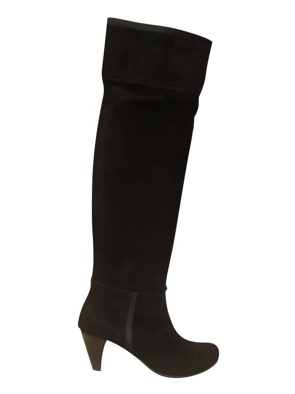 0366b4d8f47ab bottes cuissardes bill tornade cuir retourn noir talon haut with bottes  cuissardes cuir femme