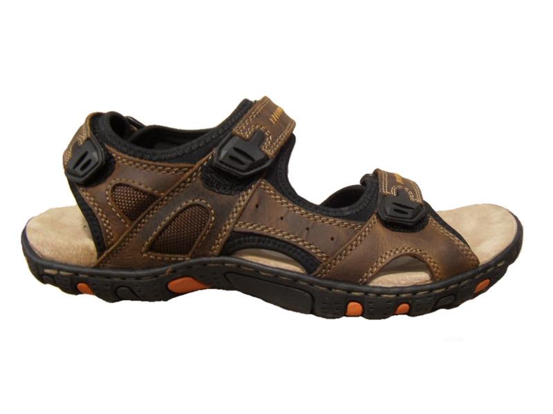 sandale pour homme hush puppies cuir marron sandales sandales et tongs chaussures pour hommes. Black Bedroom Furniture Sets. Home Design Ideas