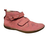 Derbies enfants montantes à velcro NOEL bordeaux