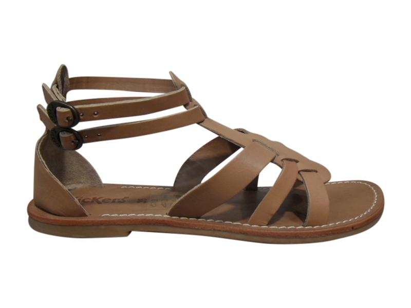pieds nus spartiates femme kickers beige cuir sandales nu pieds chaussures pour femmes femmes. Black Bedroom Furniture Sets. Home Design Ideas