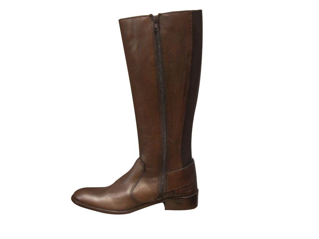 Bottes femmes cavalière ARIMA cuir marron