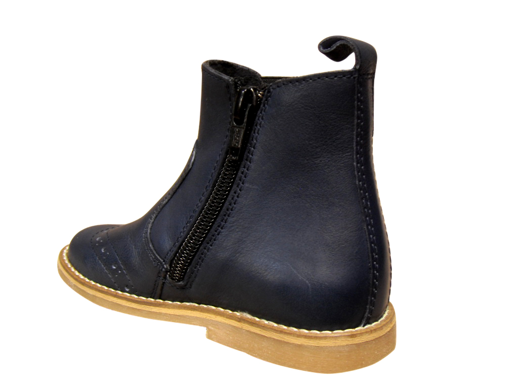 boots enfants froddo cuir bleu chaussure filles enfants chaussures. Black Bedroom Furniture Sets. Home Design Ideas