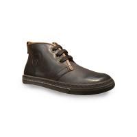 Boots à lacets et zip enfant FRODDO cuir marron