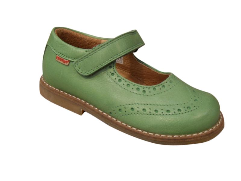 Ballerines/babies filles en cuir vert