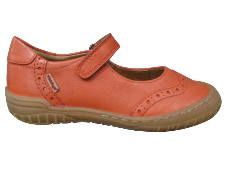 Ballerines/Babbies fille FRODDO cuir orange