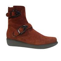 Boots femmes MAMZELLEcuir  orange/rouilles