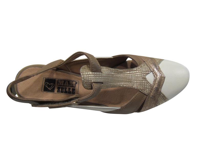 escarpins plat demi saison mam zelle en cuir blanc or chaussures pour femmes femmes pour femmes. Black Bedroom Furniture Sets. Home Design Ideas