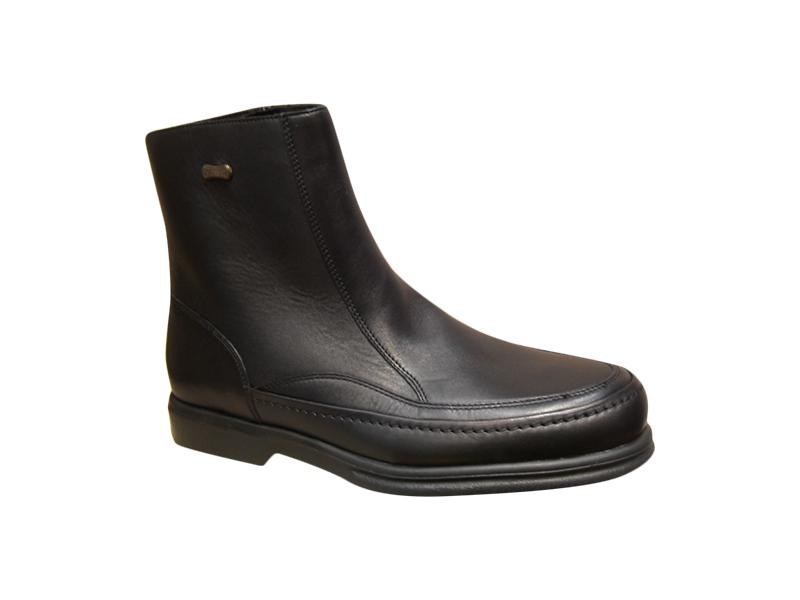 Bottine/Boots  fourrés homme SLEDGERS cuir noir