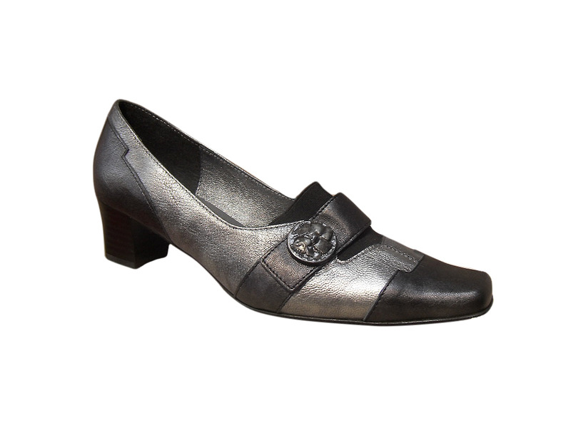 Chaussure femme METAYER cuir noir/gris confort