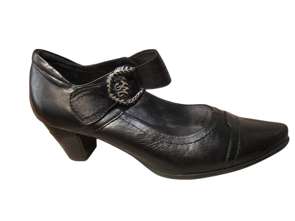 escarpins femme metayer avec bride cuir noir confort baskets basses baskets chaussures pour. Black Bedroom Furniture Sets. Home Design Ideas