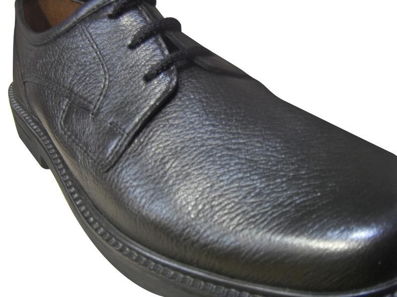 Derby homme SIOUX en cuir noir confort