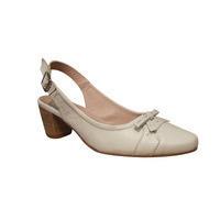 Chaussure ouverte à talon AYAME cuir blanc
