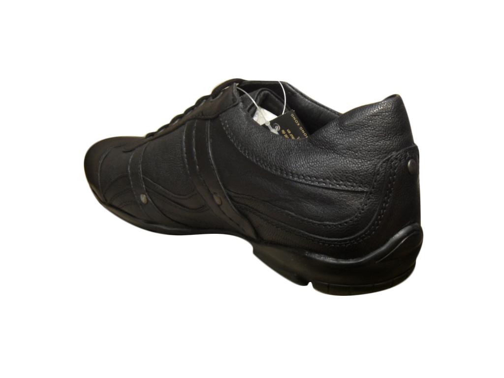 basket basse ville homme dcco cuir noir chaussures de ville baskets chaussures pour hommes. Black Bedroom Furniture Sets. Home Design Ideas