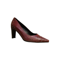 Escarpins FRANCE MODE talon haut rouge/bordeaux