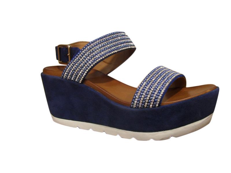 sandales pied nu femme plus en cuir bleu compens plateau compens es a plateforme sandales. Black Bedroom Furniture Sets. Home Design Ideas