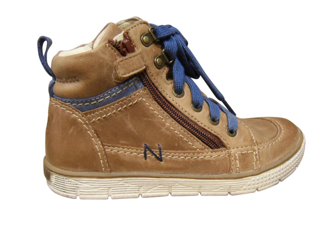 Chaussure montante garçon cuir marron clair NOEL