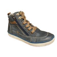 Chaussure montante NOEL garçon cuir bleu