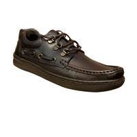 Chaussure homme bateau semelle épaisse marron