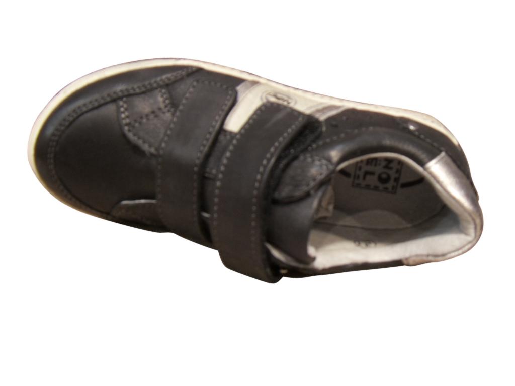 Baskets garçon cuir noir NOEL
