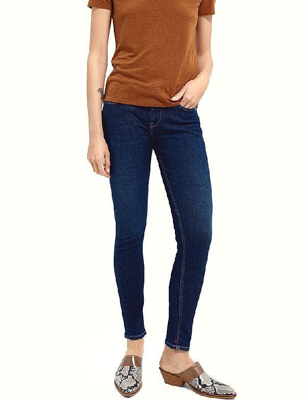 Pant jean Skinny Femme Scotch & Soda  Blue  collection été