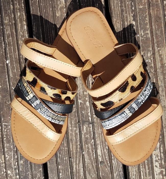 Sandale Cuir  Camel, élégante pour femme chic ou plage