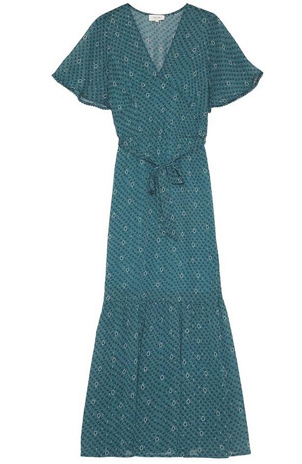 Robe longue doublée manches courtes de Grace & Mila