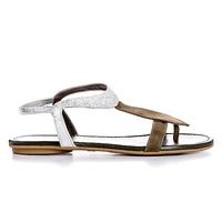 Reqins sandale nu-pieds pour Femme été2021 olive/argent
