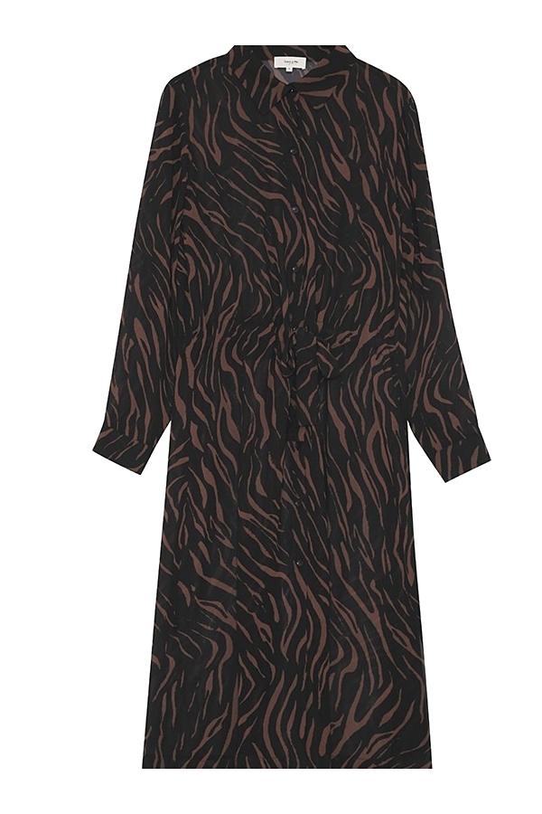 Robe chemise en mousseline imprimée,    MINI PRIX