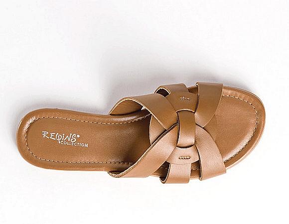 Reqins sandale nu-pieds pour Femme saison été cognac