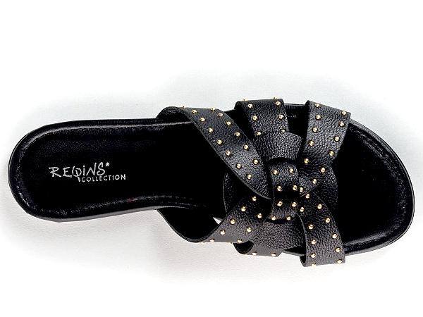 REQINS sandale/nu pieds Femme noir Collection été