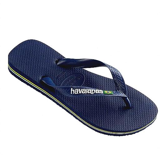 HAVAIANAS Brasil logo High Snobiety Homme Navy Blue