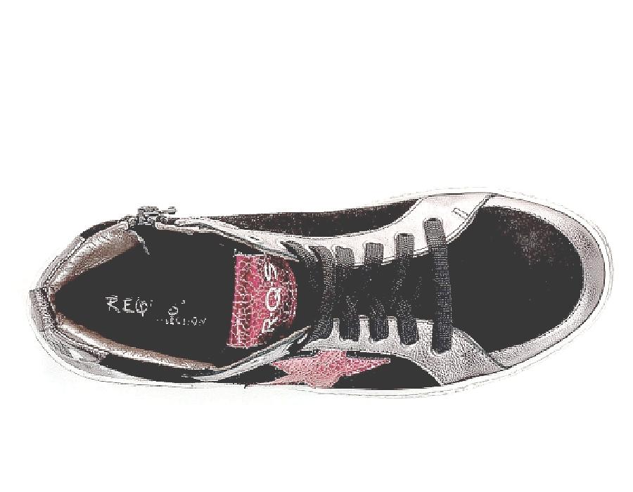 Sneaker cuir pour femme de REQINS Brittany Acier col/hiver