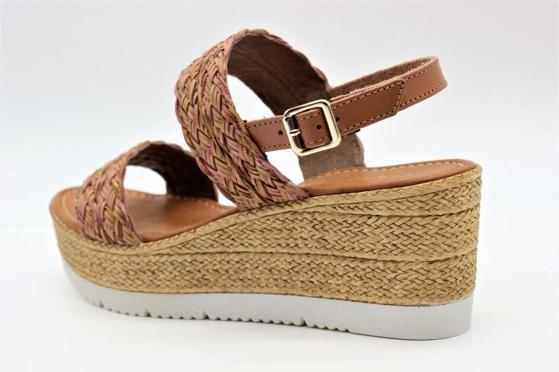 Sandale compensée de REQINS femme (chamois) PROMO
