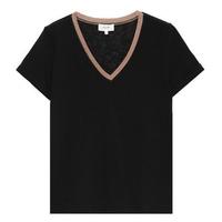 Grâce & Mila T.Shirt col V femme  Noir collection automne hiver