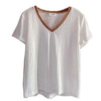 Grâce & Mila T.Shirt Femme col V   Ecru collection automne hiver