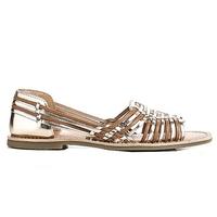 Reqins sandale nu-pieds pour Femme cognac/or collection/été