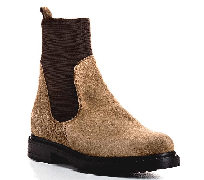 Boots Evelyn Nubuck pour femme de REQINS Beige   col/hiver