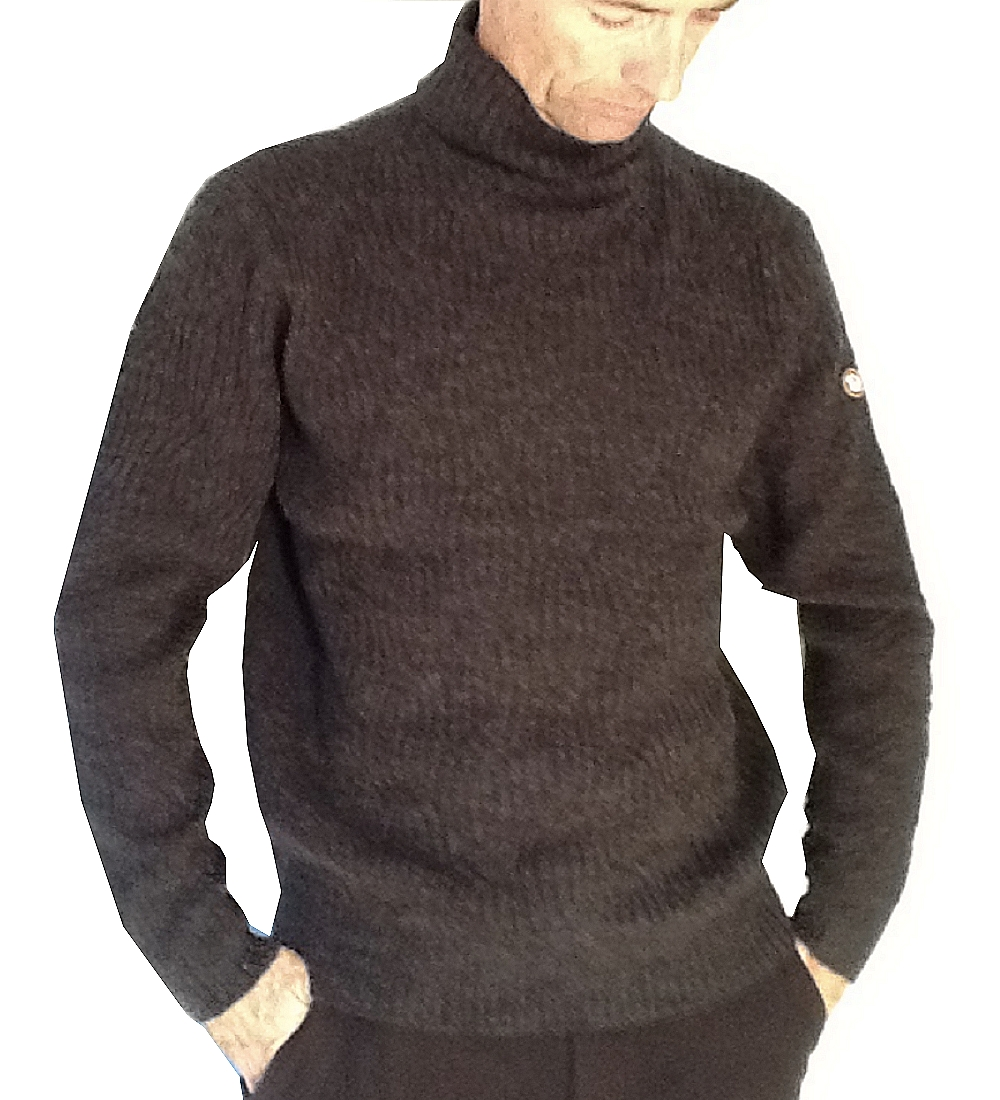 Pull homme ML col cheminée Benson & Cherry  Anthracite Col/Hiver