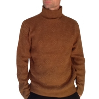 Pull homme ML col cheminée Benson & Cherry  Camel Col/Hiver