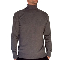 Pull homme ML col Roulé Benson & Cherry  Anthracite Col/Hiver