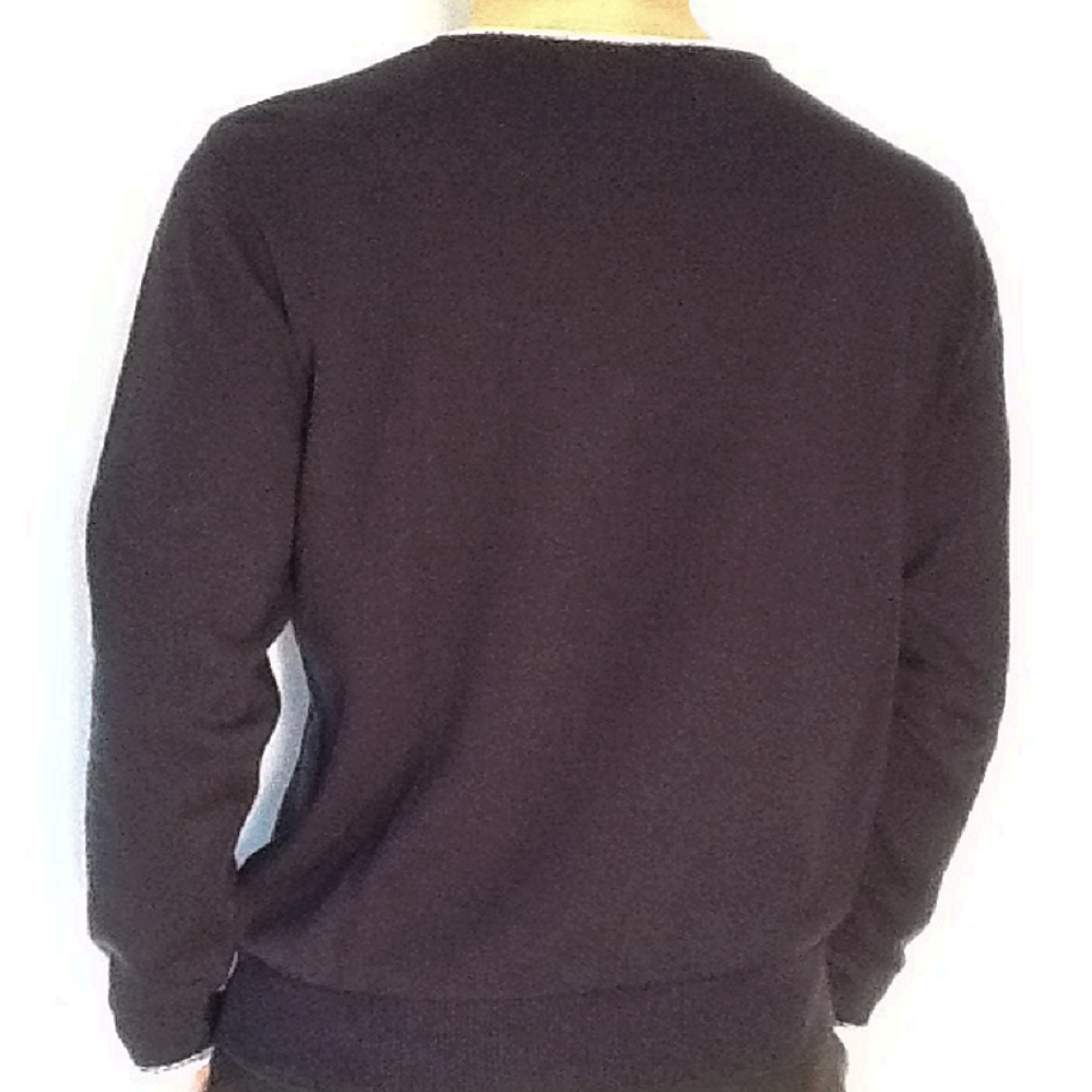 Pull homme ML col rond Benson & Cherry  (Marine) Col/Hiver
