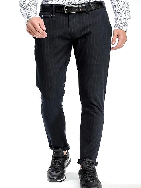 Pantalon Chino Jacquard/stetch  marine