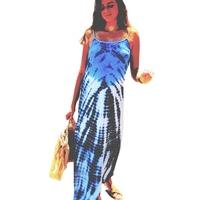 robe longue dosNu entièrement doublée Coton,Bleu, Pink Planet
