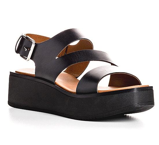 Reqins sandale nu-pieds pour Femme Noir collection été