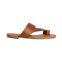 Sandale nu pieds Femme de Reqins cognac  saison été2020
