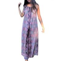 robe longue à bretelles viscose et soie Rose Pink Planet